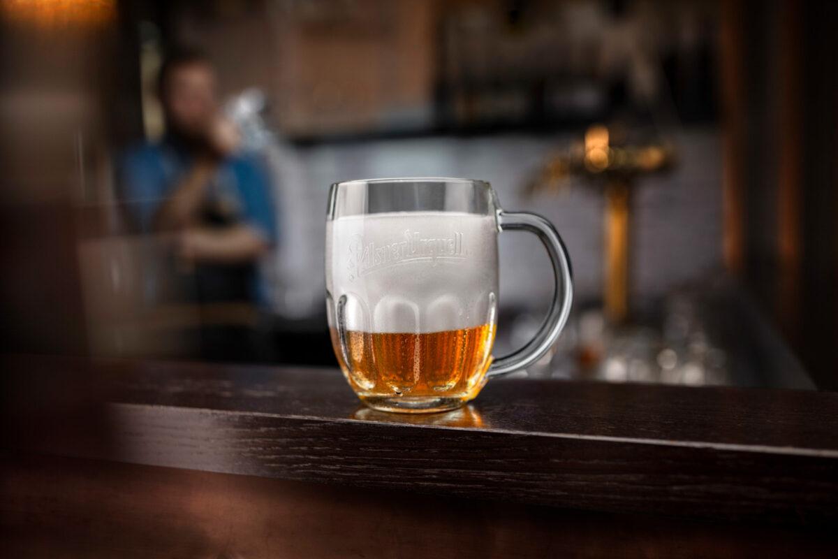 Džbánek s pivem Pilsner Urquell